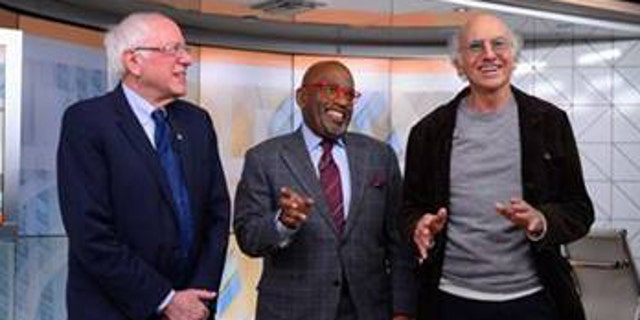 "Al Roker joked on-camera that Larry David and Bernie Sanders are ""not related at all"" as the two ran into one another on set of ""Today"" on Friday."