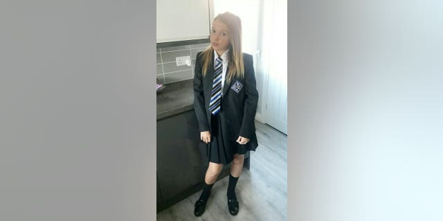 Kiah Stone-Richards in her school uniform.