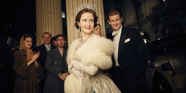 "Matt Smith and Claire Foy in ""The Crown."" (Robert Viglasky/Netflix)"
