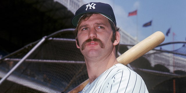 Thurman Munson #15 of the New York Yankees poses for a portrait circa 1969-79 at Yankee Stadium in the Bronx, New York. (Photo by Louis Requena/MLB via Getty Images)