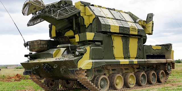 A Russian Tor-M1 missile system similar to those supplied to Iran in 2006 is photographed in an undisclosed location in Russia.