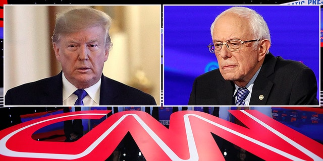 CNN has long been considered anti-Trump, but now critics feel the network has knives out for Bernie Sanders, too. (AP Photo/Charlie Neibergall)