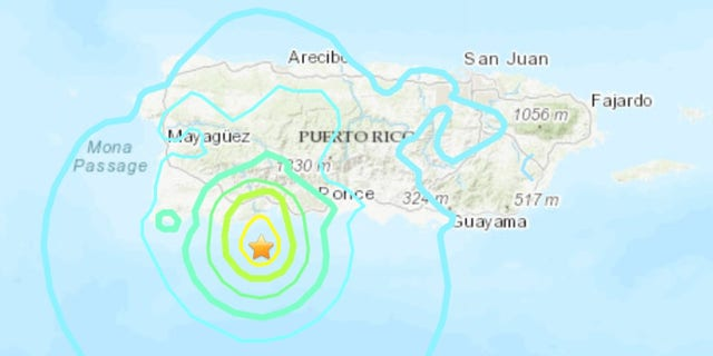 The first quake struck at 6:32 a.m. local time just south of the island at a relatively shallow depth of 10 kilometers (6 miles), according to the U.S. Geological Service. There was no tsunami threat, officials said.