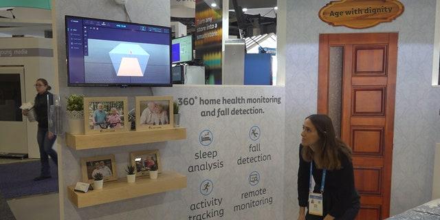 Vayyar demonstrating their motion sensor product called Walabot.(Stephanie Bennett/Fox News)