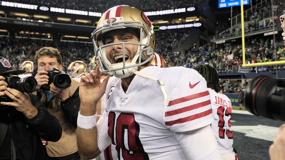 49ers' Kyle Shanahan dispels any quarterback controversy: 'This is Jimmy's team'