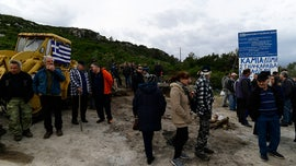 Greek islands see more protests against new migrant detention centers, officers injured in violence