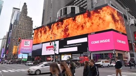 Australia firefighters thank 'brave' American, local volunteers with billboard in NYC's Times Square