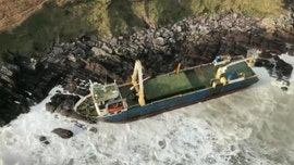 Bomb cyclone washes up 'ghost ship' in Ireland, UK reels from flooding