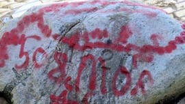 Plymouth Rock vandalized with graffiti shortly before 400th anniversary celebration