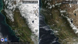 California drought returns, images show Sierra snowpack 'below normal'