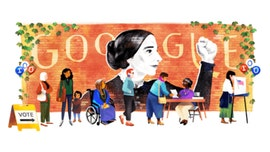 Google marks Susan B. Anthony birthday, women's suffrage with doodle