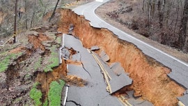 Tennessee landslide aftermath seen in dramatic drone video as road crumbles, houses reduced to rubble