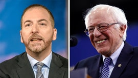 MSNBC's Chuck Todd concedes that Sanders' status as the 'front-runner' has 'strengthened' following Dem debate