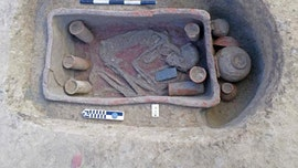 Dozens of ancient Egyptian graves found with rare clay coffins