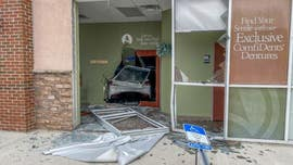 Driver injures two after crashing through window, interior wall of Florida dental office