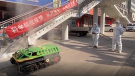 Mini tanks deployed to disinfect coronavirus-hit areas in China