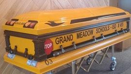 Longtime Minnesota school bus driver gets special casket