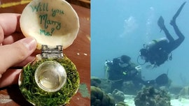 Man shocks girlfriend with underwater proposal in Caribbean Sea