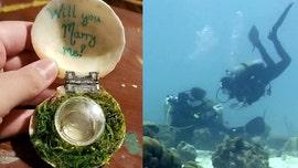 Man shocks girlfriend with underwater proposal in Caribbean Sea