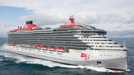 Richard Branson christens new Scarlet Lady cruise ship, the first in Virgin Voyages' fleet