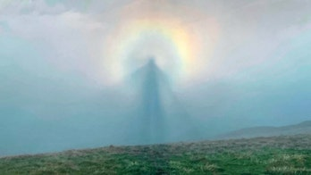 Incredible 'angel in the sky' caught on camera thanks to weather phenomenon