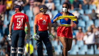 Wonder Woman interrupts SA cricket game in climate protest