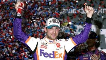 Denny Hamlin wins third Daytona 500; Ryan Newman hospitalized in fiery wreck at finish