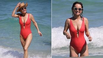 Giada de Laurentiis, 49, stuns on the beach in red swimsuit
