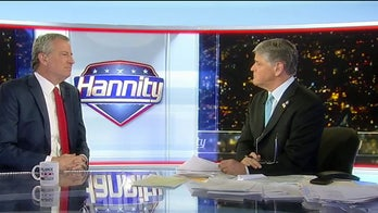 De Blasio blasts Bloomberg on 'Hannity': 'He's got no clue what everyday people are going through'