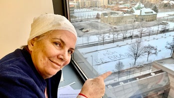 Woman battling brain cancer away from home receives special snow message: 'Mom be brave'
