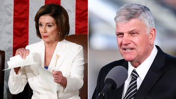 Franklin Graham slams Pelosi for tearing up speech: 'What's wrong with these people?'