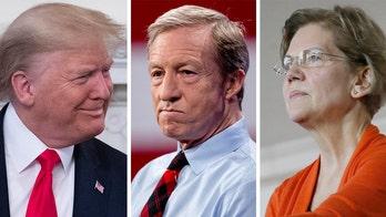 Trump mocks 'Pocahontas' Warren, 'Impeachment King' Steyer after poor showing in New Hampshire