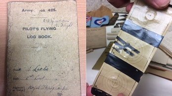 WWI pilot's logbook and gun camera photos discovered in barn