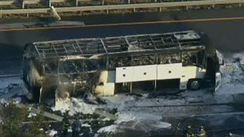 Bus on New Jersey Turnpike bursts into flames