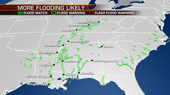 Flooding to be problematic for parts of Mississippi River Valley