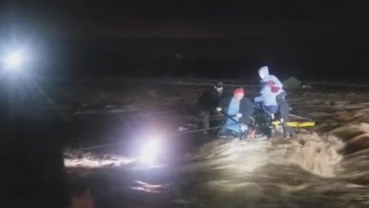 Arizona family, dog rescued from raging flash flood in creek that 'looked like the Colorado River'