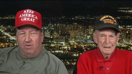 Son of WWII veteran describes 'unbelievable' moment when father was carried into Trump rally