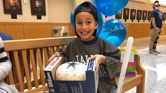 Texas boy, 8, gets special adoption celebration after spending half his life in foster care