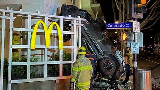 California cops investigate why man drove Jeep off multi-level parking garage