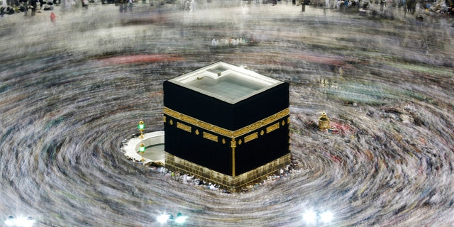 Muslim pilgrims circumambulate the Kaaba, the cubic building at the Grand Mosque, during the hajj pilgrimage in the Muslim holy city of Mecca, Saudi Arabia, Aug. 13, 2019. (Associated Press)​​​​​