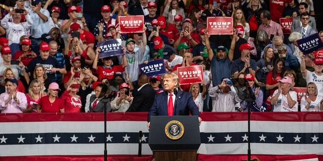 Trump campaign rally.