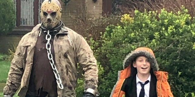 "On his birthday, Carter found ""Jason"" waiting for him outside the school gates and the pair walked home hand in hand."