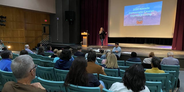 The Nevada Democratic Party holds a caucus training session for precinct volunteers - at Silverado High School in Las Vegas, NV. on Feb. 21, 2020