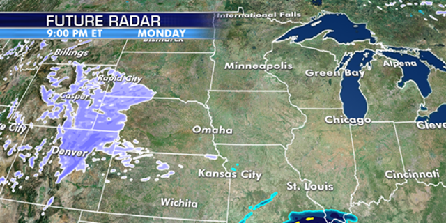 A storm system is forecast to bring snow across the Rockies before moving into the Plains.