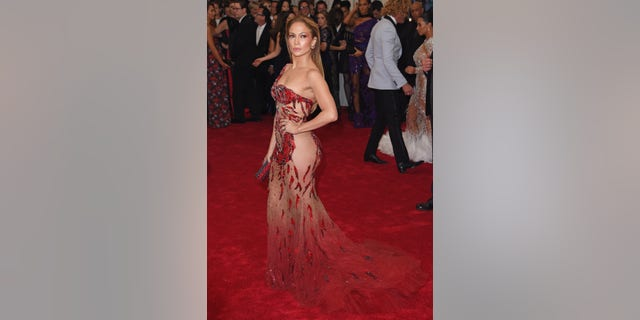 Jennifer Lopez at the 2015 Met Gala, themed 'China: Through The Looking Glass.' (Photo by Axelle/Bauer-Griffin/FilmMagic via Getty)
