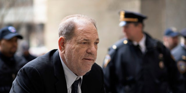 Harvey Weinstein arrives at court for his trial on charges of rape and sexual assault, Monday, Feb. 3, 2020 in New York.