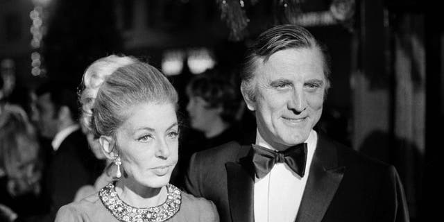 Kirk Douglas, seen here with his wife, Anne, in1969, has died.