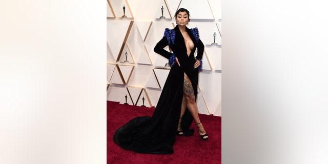 Blac Chyna arrives at the Oscars red carpet on Sunday.