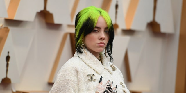 Billie Eilish arrives at the Oscars on Sunday, Feb. 9, 2020, at the Dolby Theatre in Los Angeles.