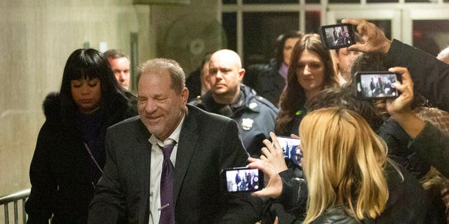 Harvey Weinstein leaves his trial, Monday, Feb. 10.